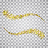 Vector pattern gold glitter waves abstract background.Design element with gold glitter. On a transparent background Stock Photos