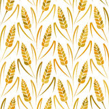 Vector pattern with grains and wheat Royalty Free Stock Images