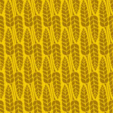 Vector pattern with grains and wheat Royalty Free Stock Image