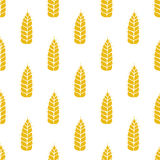 Vector pattern with grains and wheat Stock Photography