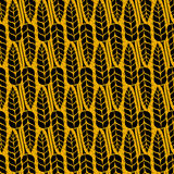 Vector pattern with grains and wheat Stock Image