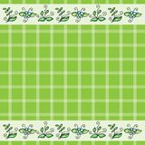 Vector pattern with grass and flowers Stock Image