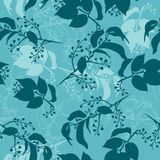 Vector pattern of green and blue leaves. This is file of EPS8 format Royalty Free Stock Photos