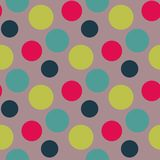 Vector Pattern with green ,grey polka dots Stock Image