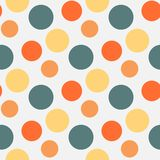 Vector Pattern with green ,grey polka dots Royalty Free Stock Image