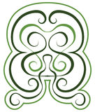 Vector pattern. green tint ornament. tattoo style Stock Photography