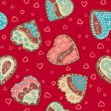 Vector Pattern hearts for St. Valentine's Day Stock Images