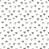 Vector pattern with heats, made of brush stroke. seamless background. Vector doodle pattern with heats, made of brush stroke. seamless background Royalty Free Illustration