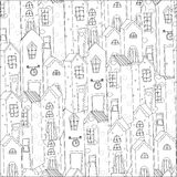Vector pattern with houses Stock Image