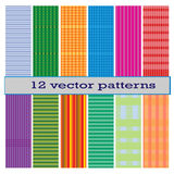 12 vector pattern. Illustrator 10 Royalty Free Stock Image