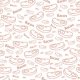 Vector pattern with the image of bacon royalty free stock photos