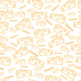 Vector pattern with the image of hard cheese Stock Photo