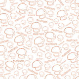 Vector pattern with the image of mushrooms Stock Photography