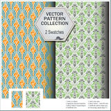 Vector pattern that includes swatches from of shells and plants Royalty Free Stock Photography