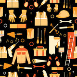 Vector Pattern of items for repair Royalty Free Stock Images