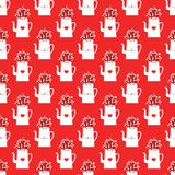 Vector pattern with kettles stock illustration