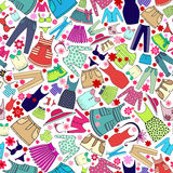 Vector pattern with ladies wear for use in design Stock Photography