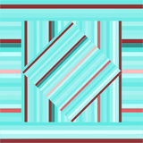 Vector pattern with lined squares. Abstract blue texture. Stock Images