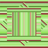 Vector pattern with lined squares. Abstract green texture. Geom Stock Photo