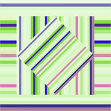 Vector pattern with lined squares. Abstract purple and green texture. Royalty Free Stock Image