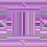 Vector pattern with lined squares. Abstract purple texture. Stock Photography