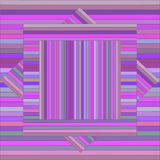 Vector pattern with lined squares. Abstract purple texture. Royalty Free Stock Photography