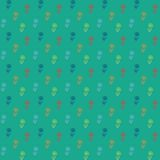 Vector pattern, little colorful flowers on green Stock Photography