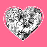 Vector pattern of love with Doodle Design Elements - Illustratio Royalty Free Stock Images