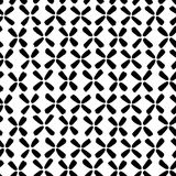 Vector pattern made of black sketchy flowers Royalty Free Stock Photography