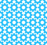 Vector pattern made of cogs. Seamless tiling background. Abstract business concept royalty free illustration