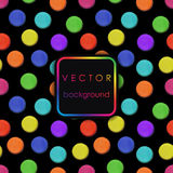 Vector pattern made up of geometric shapes clay. Colorful plasticine Stock Photography