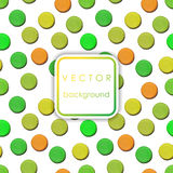 Vector pattern made up of geometric shapes clay. Green, yellow, orange plasticine stock illustration