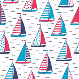 Vector pattern of marine sails. Stock Images