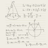 Vector pattern with mathematical formulas Stock Images