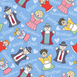 Vector pattern with members of a large family Royalty Free Stock Photo