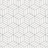 Vector pattern. Modern stylish texture. Repeating geometric tiles. Striped monochrome cubes. Pattern is on swatches panel royalty free illustration