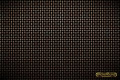 Free Vector Pattern Of Brass Metal Grid Techno Background. Iron Grill Industrial Texture. Web Page Fill Pattern. Technology Wallpaper. Stock Photos - 119899703