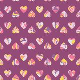 Vector pattern, optical illusion hearts background. Spread paint Royalty Free Stock Image