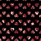 Vector pattern, optical illusion hearts background. Spread paint Stock Photography