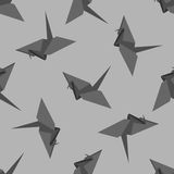 Vector pattern with origami bird. And hearts. Can be used for desktop wallpaper or frame for a wall hanging or poster,for pattern fills, surface textures, web Royalty Free Stock Image