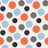 Vector Pattern with polka red,blue,grey dots Stock Photography