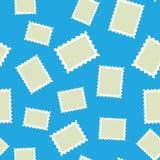 Vector pattern of post stamp on blue background vector illustration