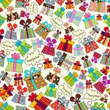 Vector pattern with presents for use in design Royalty Free Stock Photography
