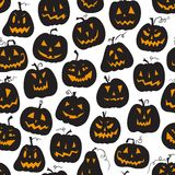 Vector pattern with pumpkins. Halloween holiday, seamless background Royalty Free Stock Photos