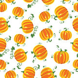 Vector pattern pumpkins seamless Stock Photos