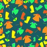 Vector pattern. Rain gear Stock Images