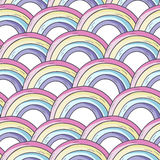 Vector pattern with rainbow. stock illustration