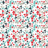 Vector pattern with random triangles in various colors and sizes. Modern background with simple geometric shapes. Seamless texture Stock Photo