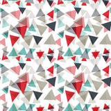 Vector pattern with random triangles in various colors and sizes. Modern background with simple geometric shapes. Seamless texture Royalty Free Stock Image