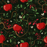 Vector pattern Red apples Stock Photos